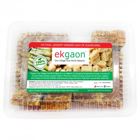 Natural Jaggery (Ginger) (Gud of Sugarcane) 500 g