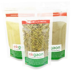 Anti-oxidant Tea Combo - 1 (Senna Flower Tea 100g, Lotus Flower Tea 50g, Darjeeling Green Tea 50g )