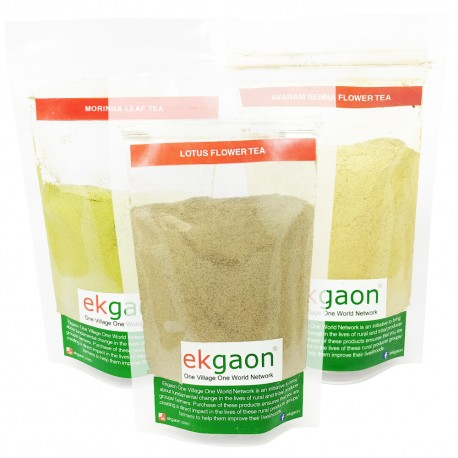 Anti-oxidant Tea Combo - 2 (Senna Flower Tea 100g, Lotus Flower Tea 50g, Moringa Leaf Tea 100g )