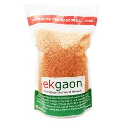 Unpolished Desi Masoor Dal - Dhuli (Washed & Split Red Gram) 500Gms