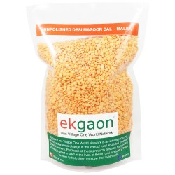 Unpolished Desi Masoor Dal – Malka (whole grain & washed Red Gram) 500Gms