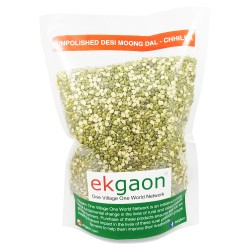 Unpolished Desi Moong Dal - Chhilka (Split with Skin Green Gram) 1 Kg