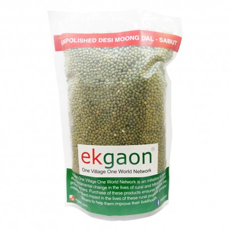 Unpolished Desi Moong Dal - Sabut (whole grain with skin Green Gram) 500 Gms