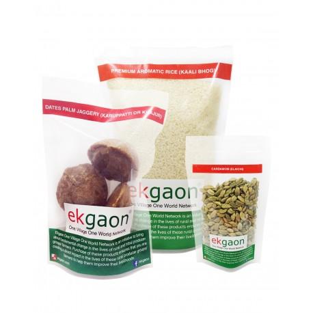 Sankranti Combo (Premium Aromatic Rice 1kg , Cardamom - Eliachi 50g , Dates Palm Jaggery)500g