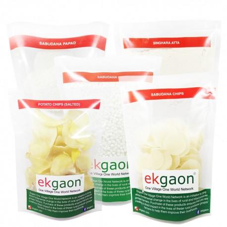 Vrat 1 Combo Pack (Singhada Powder-500g, Sabudana-1Kg, Sabudana Chip-250g, Sabudana Papad-250g, Potato Chips-150g)